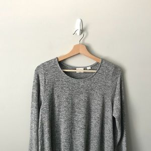 Anthropologie Postmark Knit Sweatshirt Top Gray M